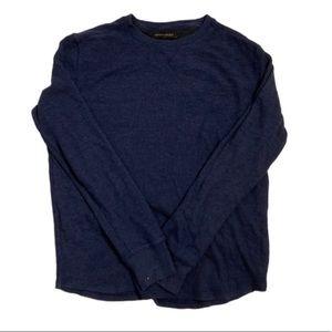 Banana Republic navy blue waffle knit long sleeve